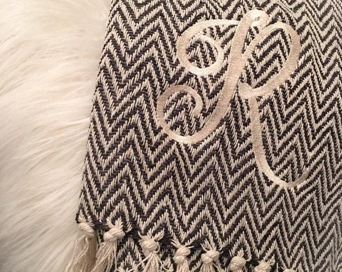 Chevron Knit Weave Blanket