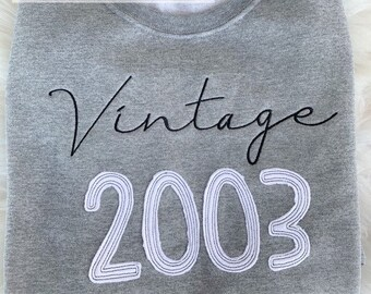 Vintage Applique Design Tee Shirt | Birthday Tee