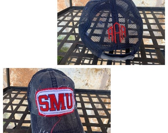 Add a monogram to the back of any hat!