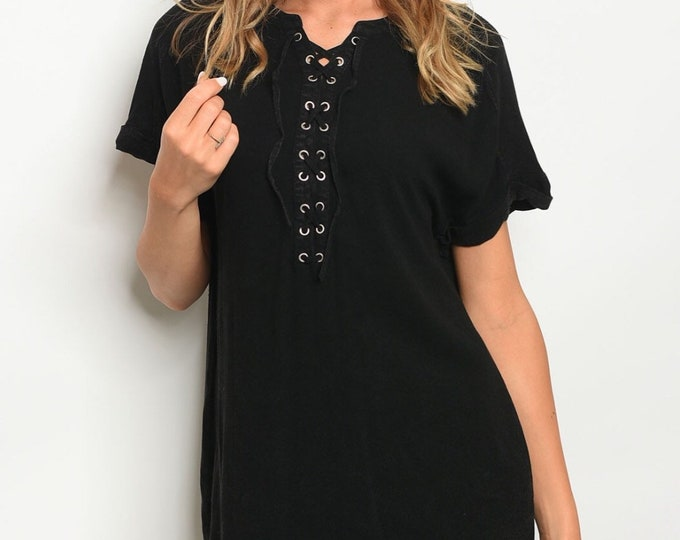 Black Front Lace Dress