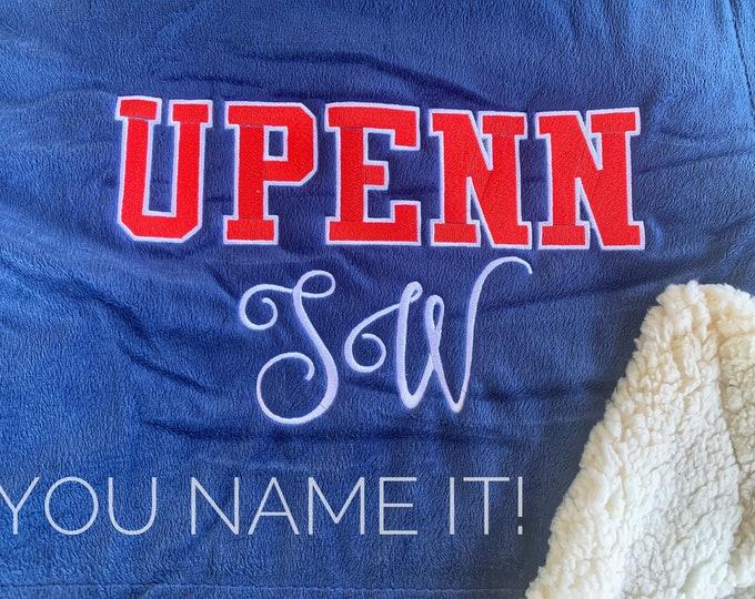 College Bound OVERSIZED SHERPA Blanket
