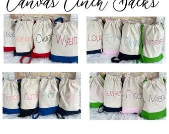 Canvas Cinch Sack Backpack