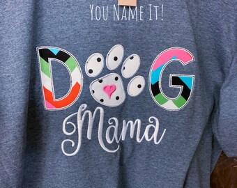 Dog Mama Applique Design