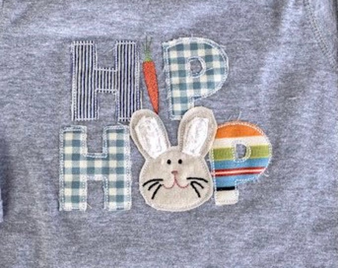 Hip Hop Easter Bunny Applique Onesie or Tee Shirt