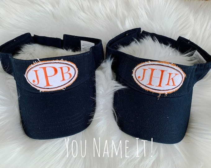 Visor with Monogrammed Patch