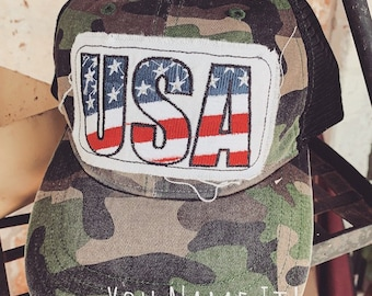 USA Camo Trucker Hat