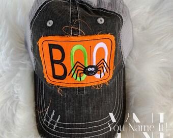BOO Halloween Trucker Hat