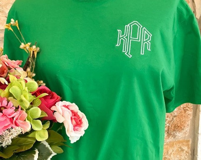 St Patrick's Day Monogrammed Tee