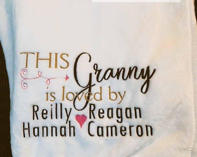 This Person is Loved By Blanket, Grandmother, Aunt, Dad, Grandpa