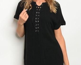 Black Front Lace Dress
