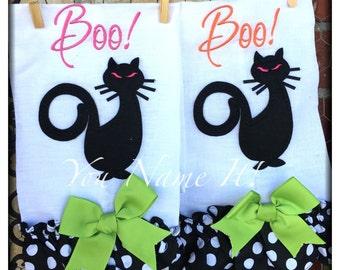 """Halloween Towel """"Black Cat"""""""