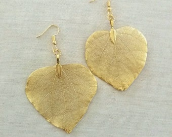 Gold leaf jewelry   Etsy