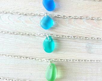 Sea Glass Bracelet Charm Bracelet Sea Glass Silver Bracelet  Sea Glass Jewelry Beach Glass Jewelry Seaglass Bracelet Seaglass Jewelry