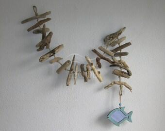 Decorazioni Per Casa Al Mare : Decorazione ghirlanda da appendere legno di mare casa al mare etsy