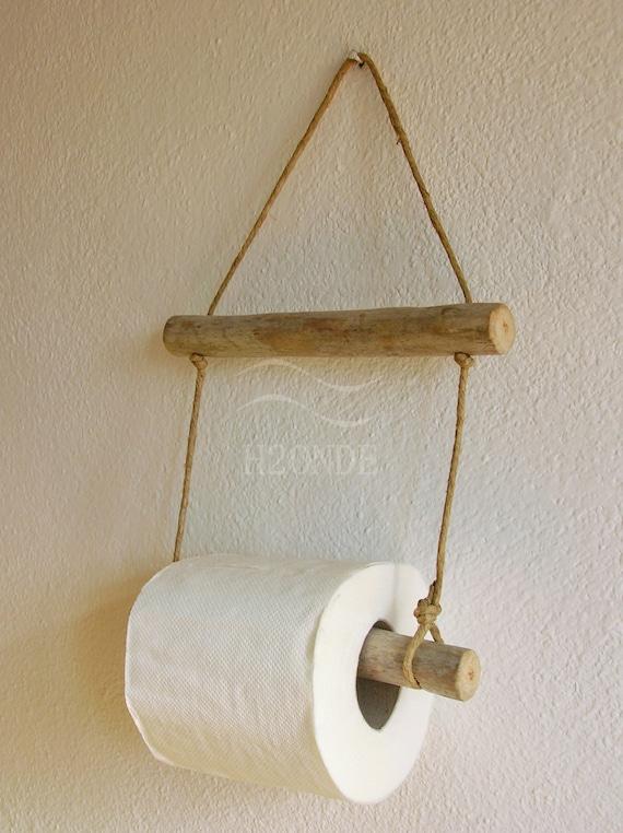 Porta rotolo carta igienica bagno muro parete appeso naturale etsy - Dove mettere il porta carta igienica ...
