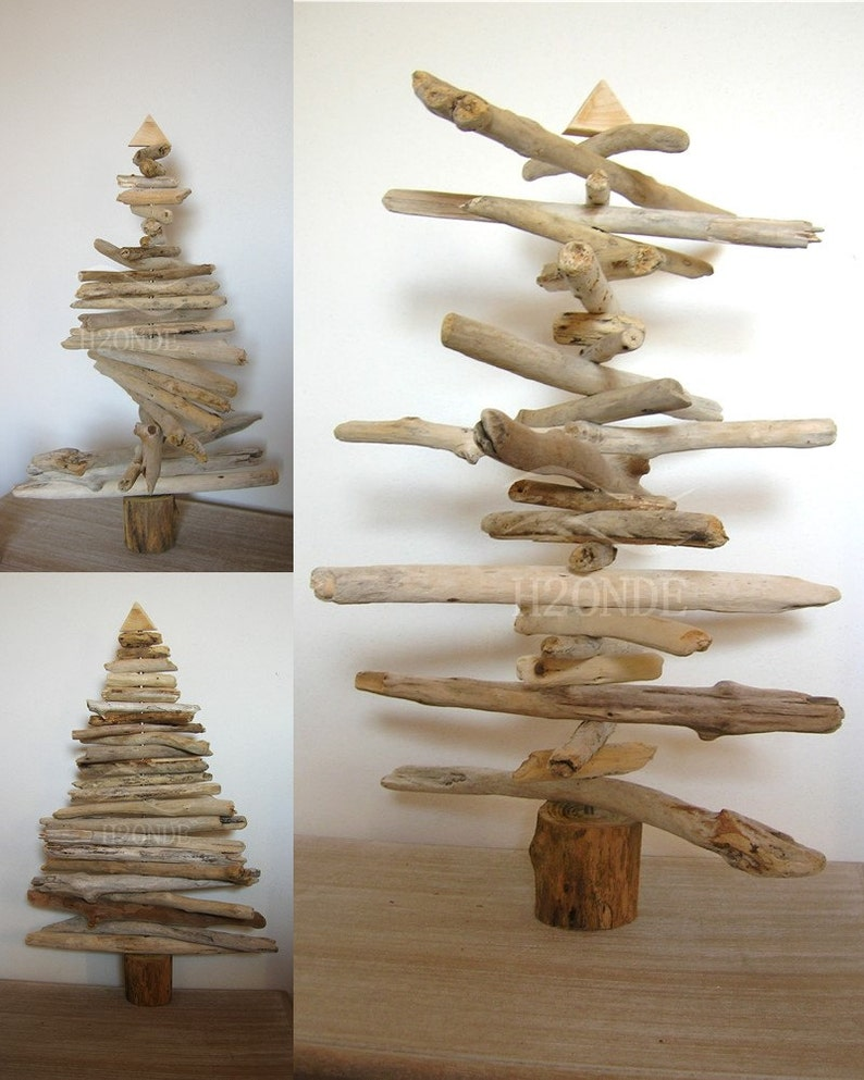 Driftwood Christmas tree wood Xmas modern coastal beach decor natural rustic minimalist scandinavian decoration original gift idea wooden