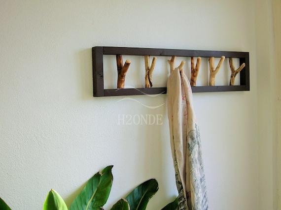 Attaccapanni appendiabiti legno rami moderno muro porta etsy