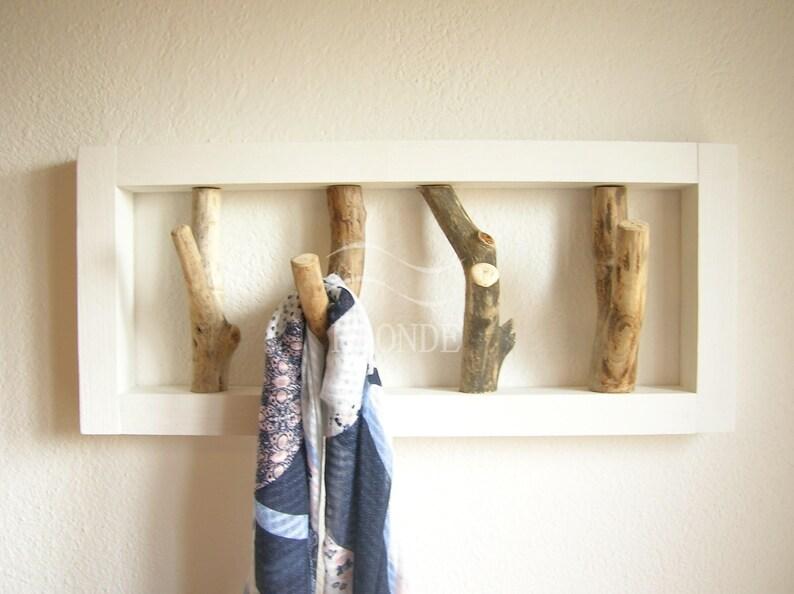 Attaccapanni appendiabiti parete muro legno rami ganci shabby etsy