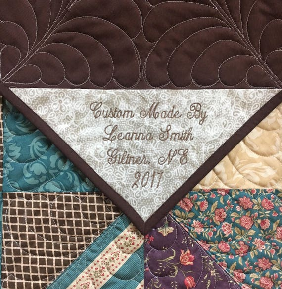 Add On Personalized Quilt Monogrammed Quilt