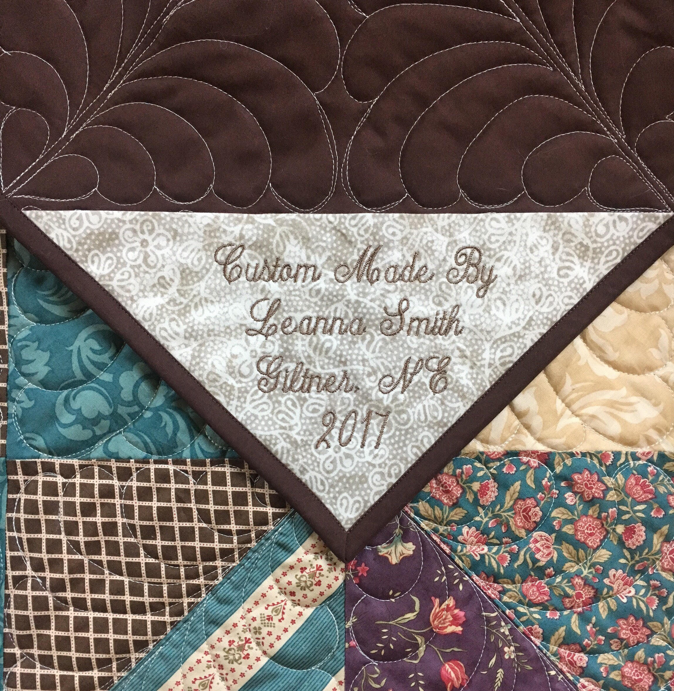Custom Embroidered Quilt Label Fabric Personalized Quilt