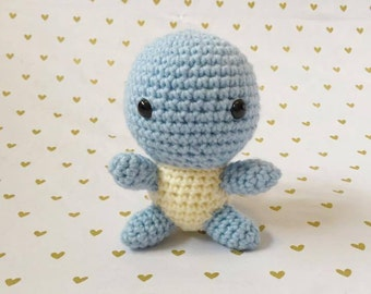 Squirtle, Amigurumi Squirtle, Crochet Squirtle