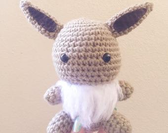 Eevee, Crochet Eevee, Amigurumi Eevee, Pokemon Eevee