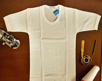 100% MERINO Wool men's underwear short sleeve - pure virgin merino wool mens singlet -   Outdoor & Hiking undershirts Lightweight Breathable
