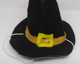 Pilgrim Hat for Cats- Thanksgiving and Bonfire Night
