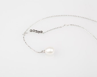 Pearl Silver Necklace-Gift for her