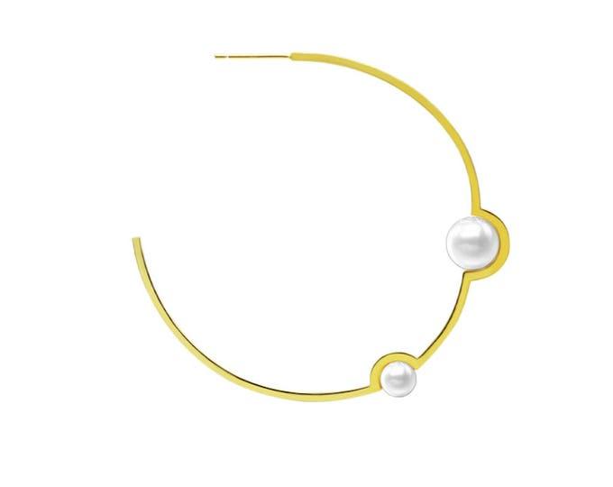 Pearl Earrings-Gold Plated Earrings-Sterling Silver Earrings-Nature Pearl-ChritmasJewellery-Gift for her