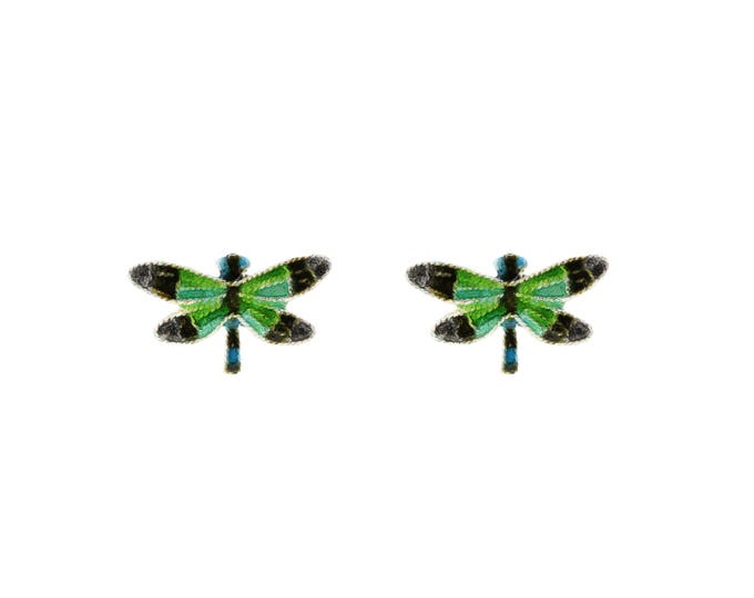 Enamel Green Dragonfly-Chinese Jewellery-Enamel Dragonflyy-Filigree Jewellery-Handcrafted Jewellery