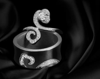 Lucky Clouds Wedding Rings-Gold Diamonds Wedding Rings