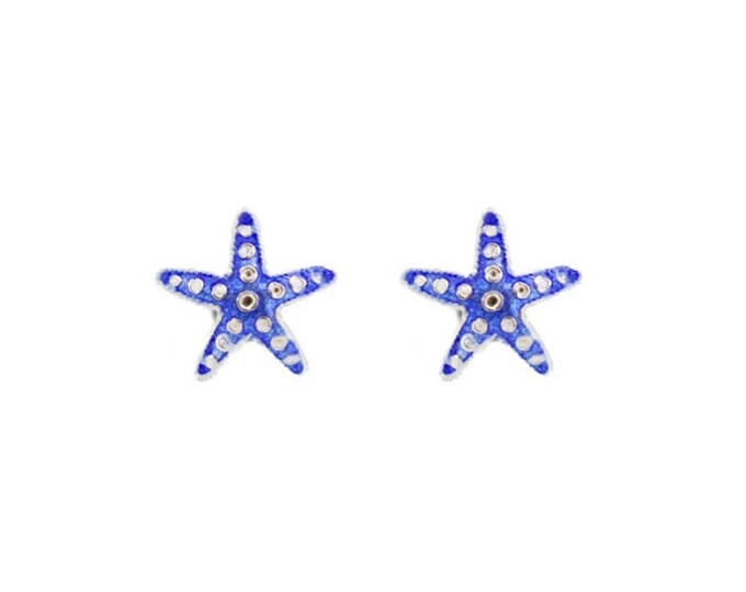 Enamel Blue Starfish-Chinese Jewellery-Enamel Animal-Filigree Jewellery-Handcrafted Jewellery