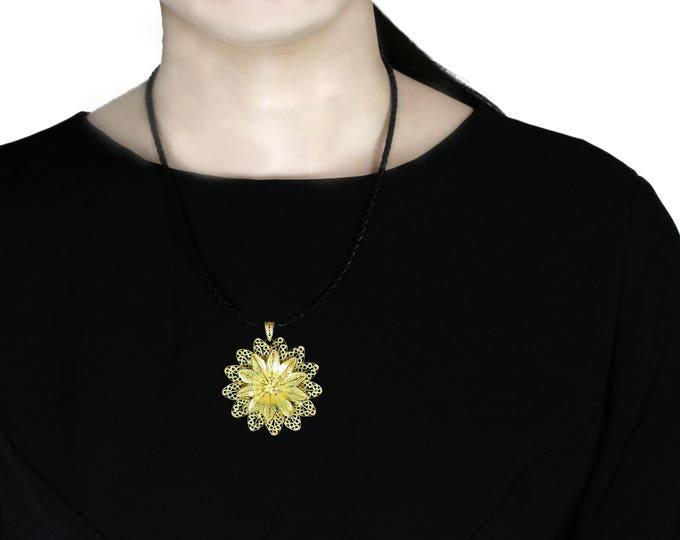 Filigree Flower Pendant