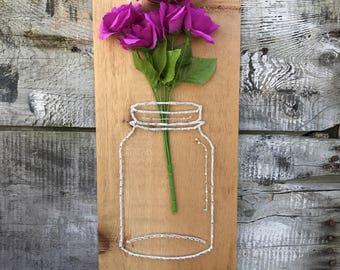 String Art, Mason Jar String Art, Handmade, Summer String Art, Summer Decor, Housewarming Gift