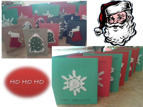 Grußkarten Weihnachtskarten Applikationen Papier Geschenk Etsy