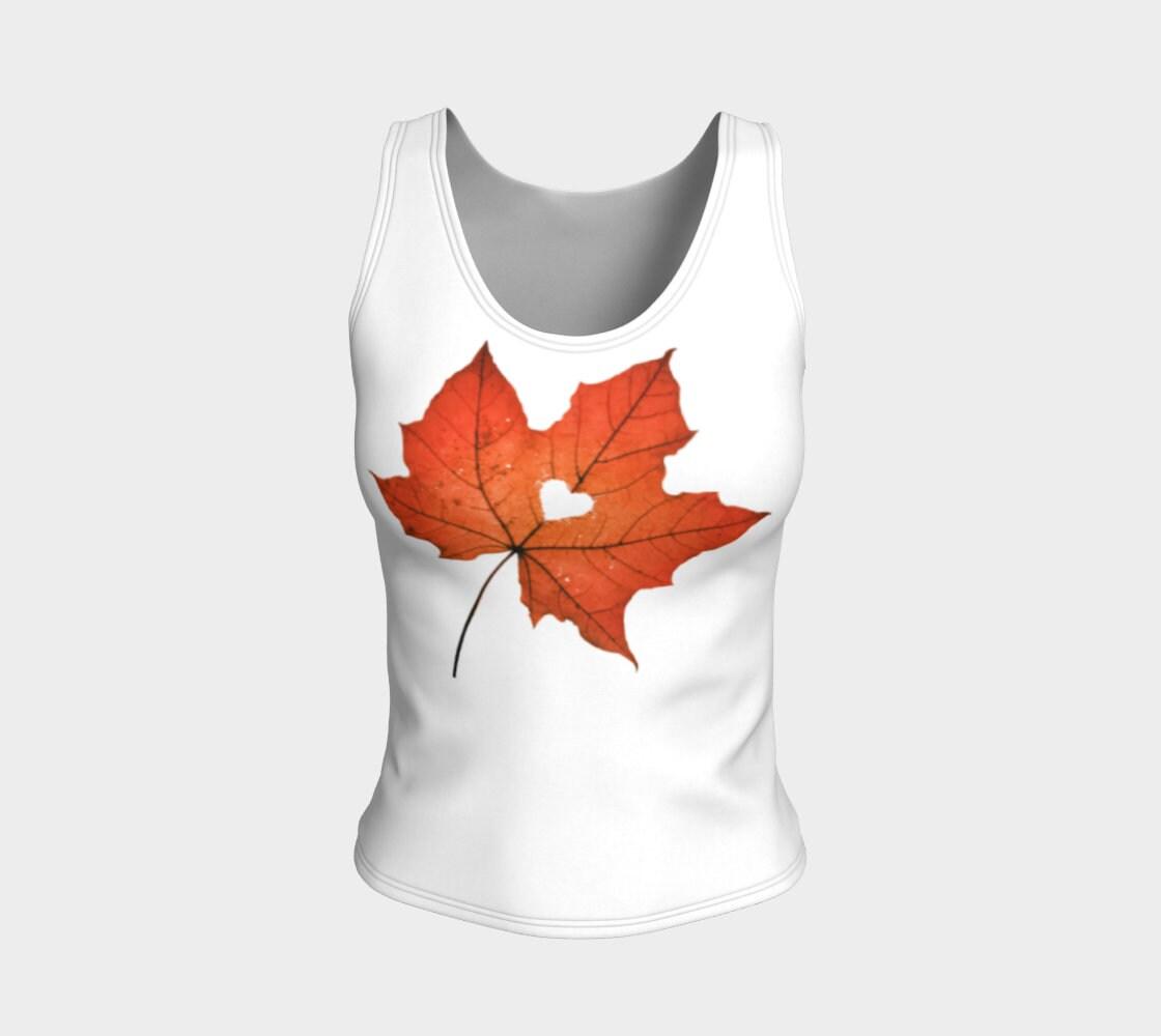 Amour de Vermont Maple Leaf Tank Top   Les feuilles feuilles Les d'automne   Chemises d'automne   Chemise de coeur   Feuilles d'érable   Vêtements hippie   Respectueux de l'environnement   Chemise de la nature 128cee