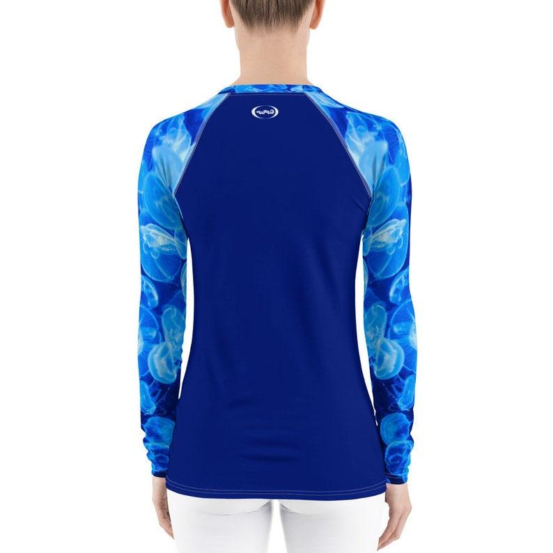 Wild Within XS-3XL Blue Jellyfish Women/'s Rash Guard