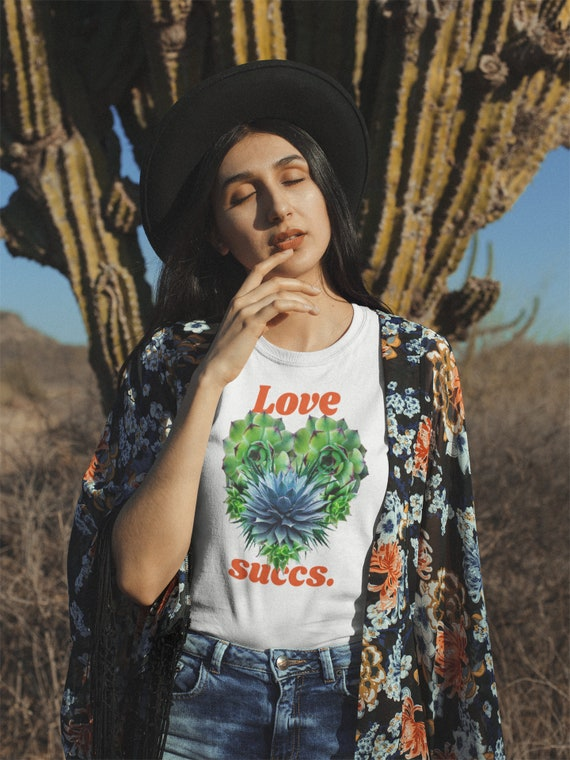 Love Succs Real Succulent Sustainable T Shirt | S 2XL | Wild Within