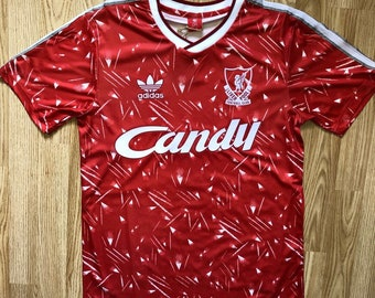 3b099a04f3a 1990 Liverpool retro style Candy soccer jersey