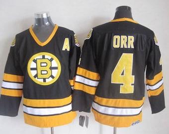 New Men s retro Vintage Boston Bruins jersey.Bobby Orr 075f79b6f