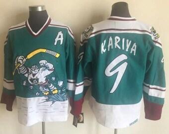 2377f9b1 New Mighty Ducks '95-'96 throwback wild wing Vintage Hockey jersey.Paul  kariya