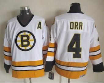 98530208 New Men's retro Vintage Boston Bruins jersey.Bobby Orr