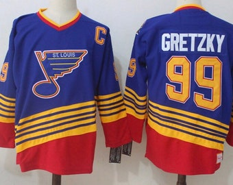 4ed8762f1 New Gretzky Stitched thowback Vintage Hockey jersey.Saint Louis Blues