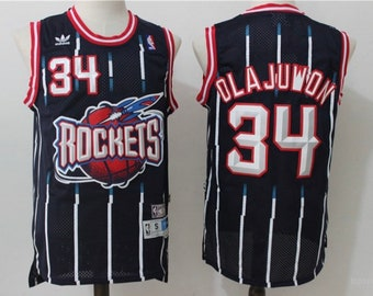 e78829dc6 Retro Olajuwon Stitched throwback vintage Rockets Jersey.