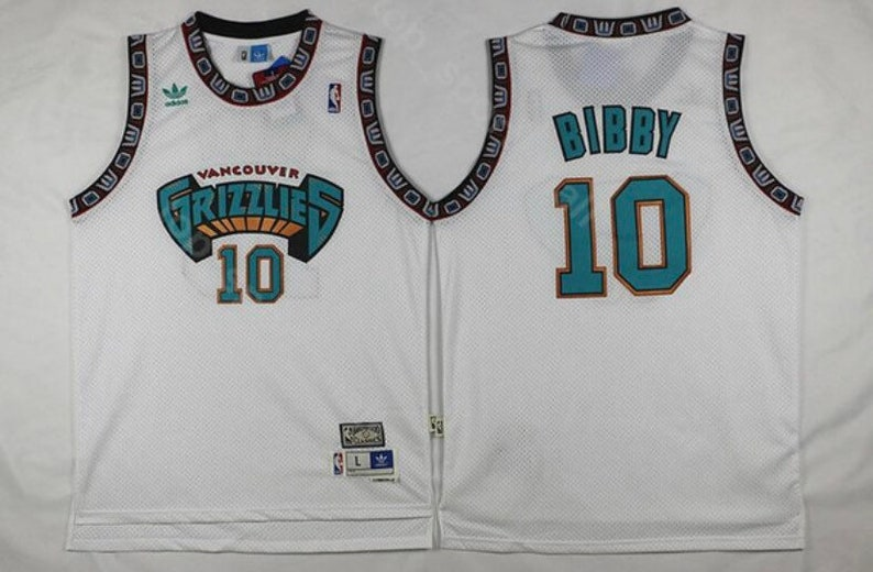reputable site 1465b abcf2 Retro style Vancouver Grizzlies Stitched throwback vintage Jersey.