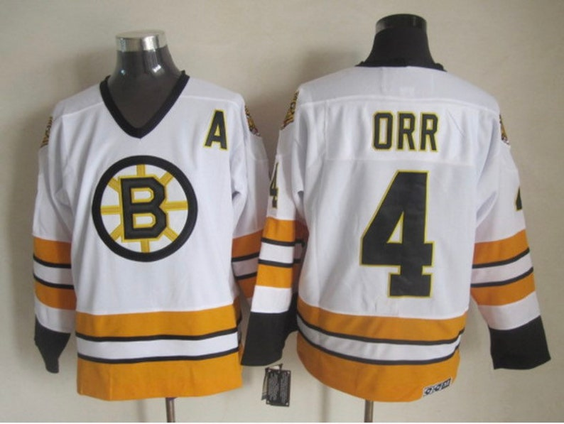 new arrival b1d82 0a6dd New Men's retro Vintage Boston Bruins jersey.Bobby Orr