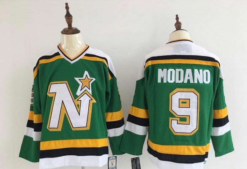 the latest 7f44a 53c98 New Mike Modano Men's retro '98-'99 Dallas Stars Hockey jersey.