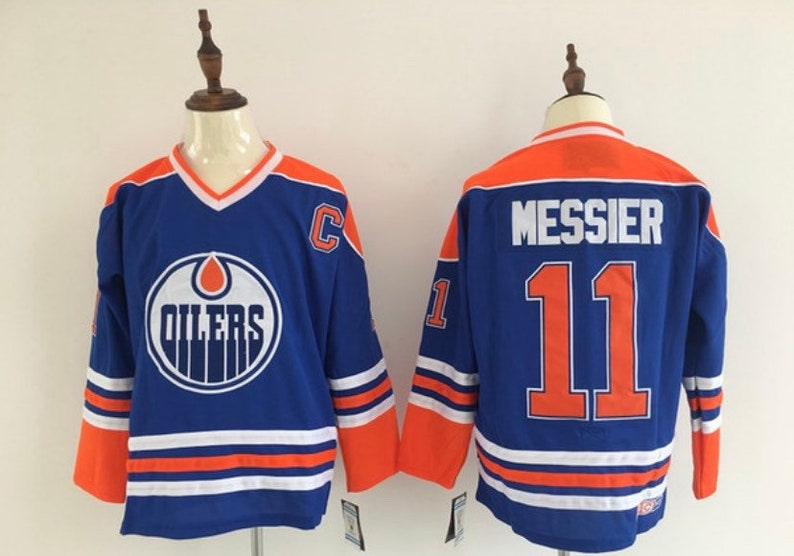 New Mark Messier Stitched thowback Vintage  Hockey jersey.Edmonton Oilers