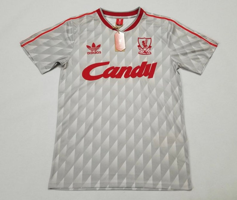 the latest efd66 ddd20 1990 Liverpool FC retro style Candy soccer jersey(customization available )